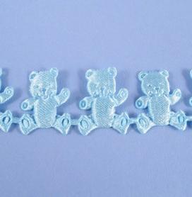 Ruban 1 M - Nounours bleu