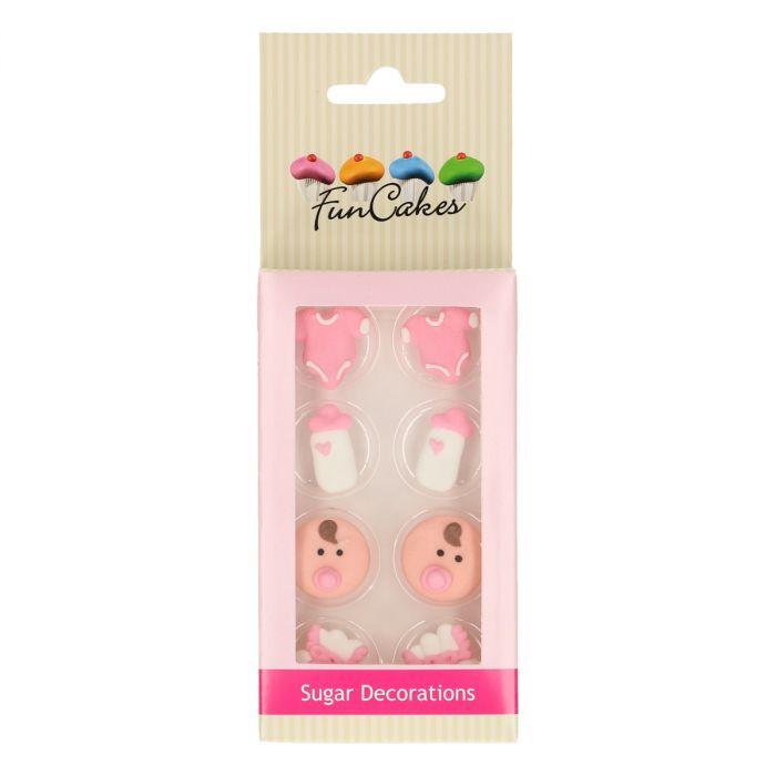Décoration en sucre - Bébés filles