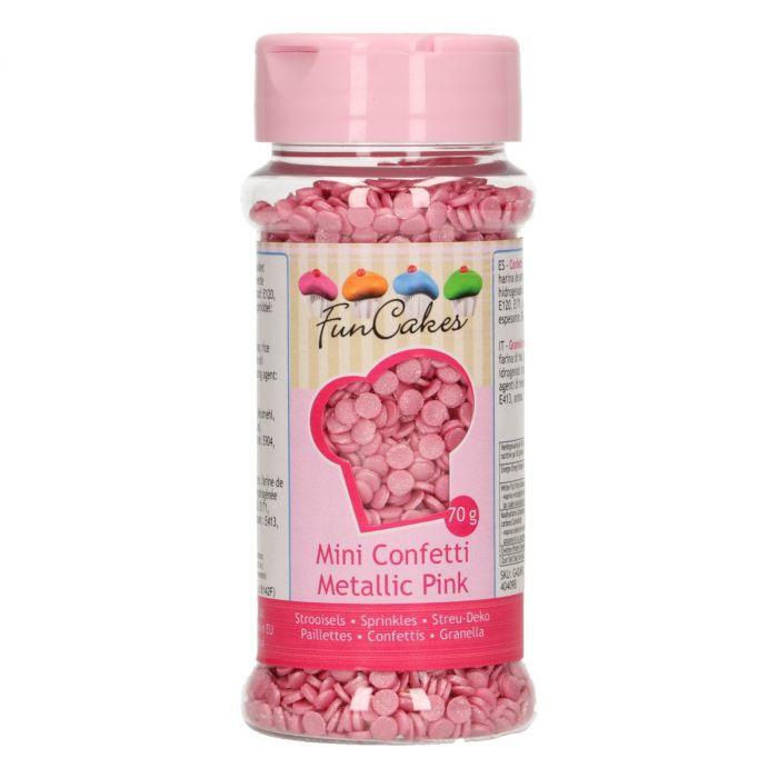 Mini Confetti - Rose métallique