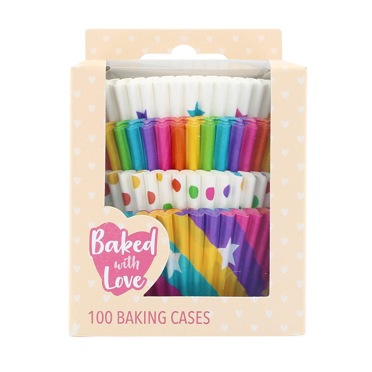 Caissete à Cupcake multicolour - lot de 100