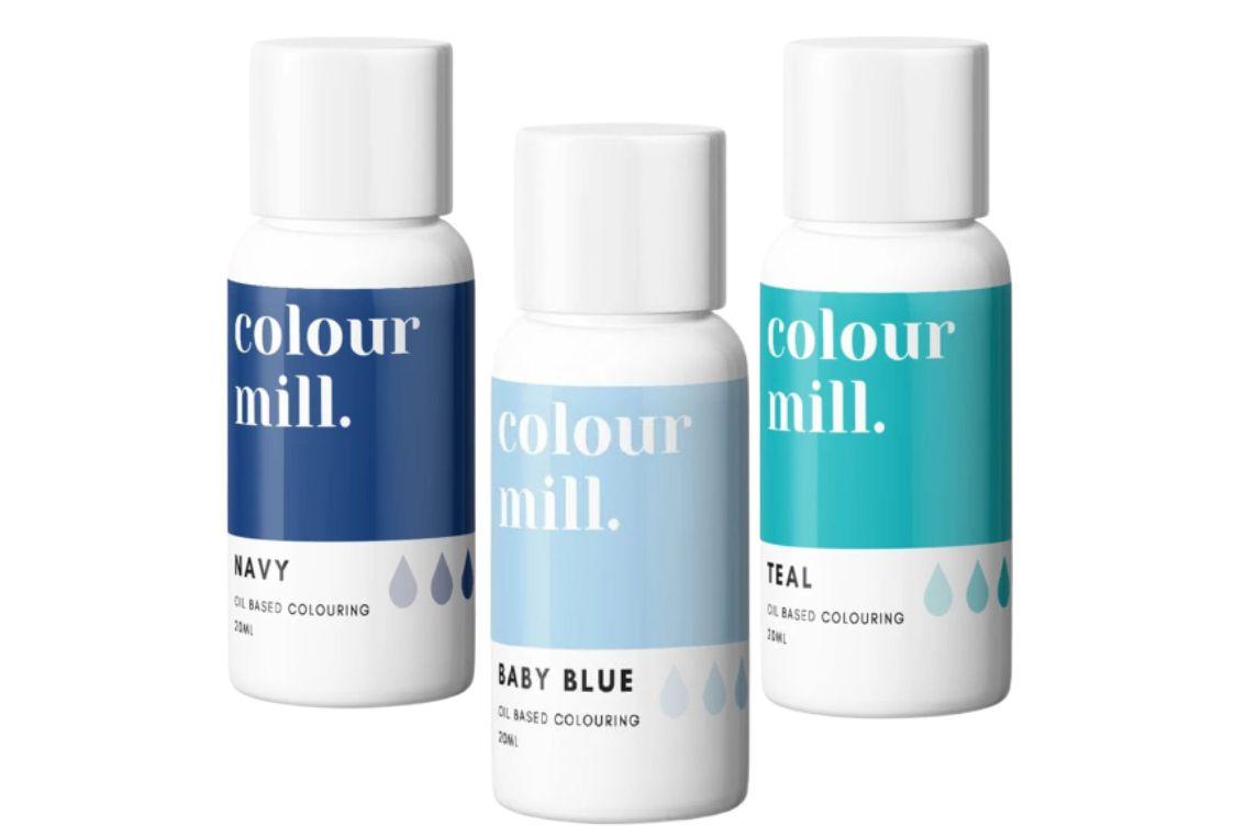 Colorant alimentaire Colour Mill - Bleus - Lot de 3
