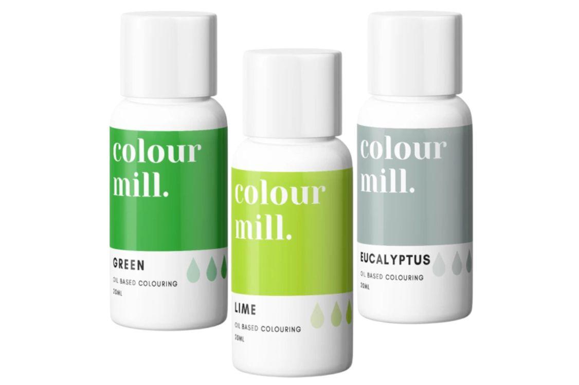 Colorant alimentaire Colour Mill - Vert - Lot de 3