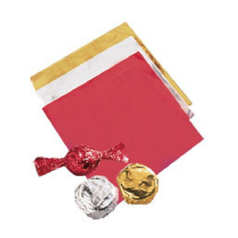 Feuille d'emballage pour chocolats – Or – Lot de 50