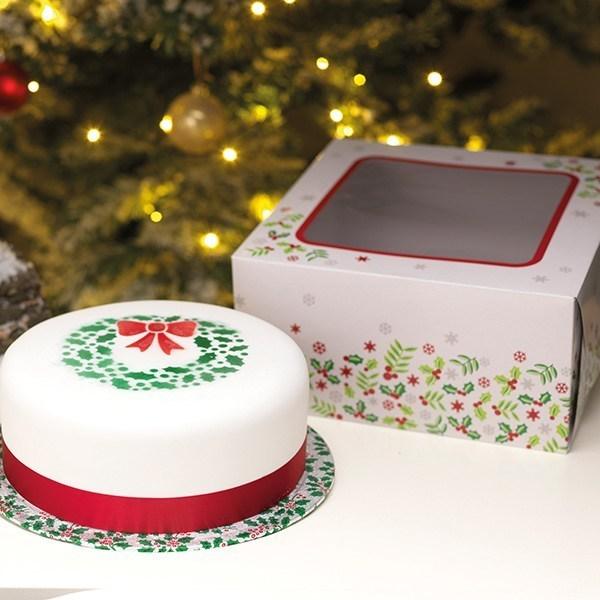 Boite à gâteau Noel  et Plateaux- 25 cm