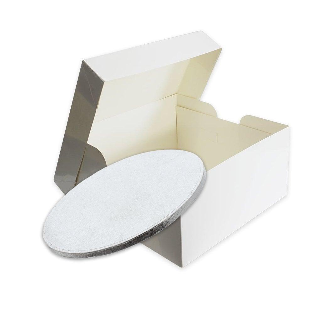 Boîte à gâteaux H 15 cm - Blanc - Choisir la taille