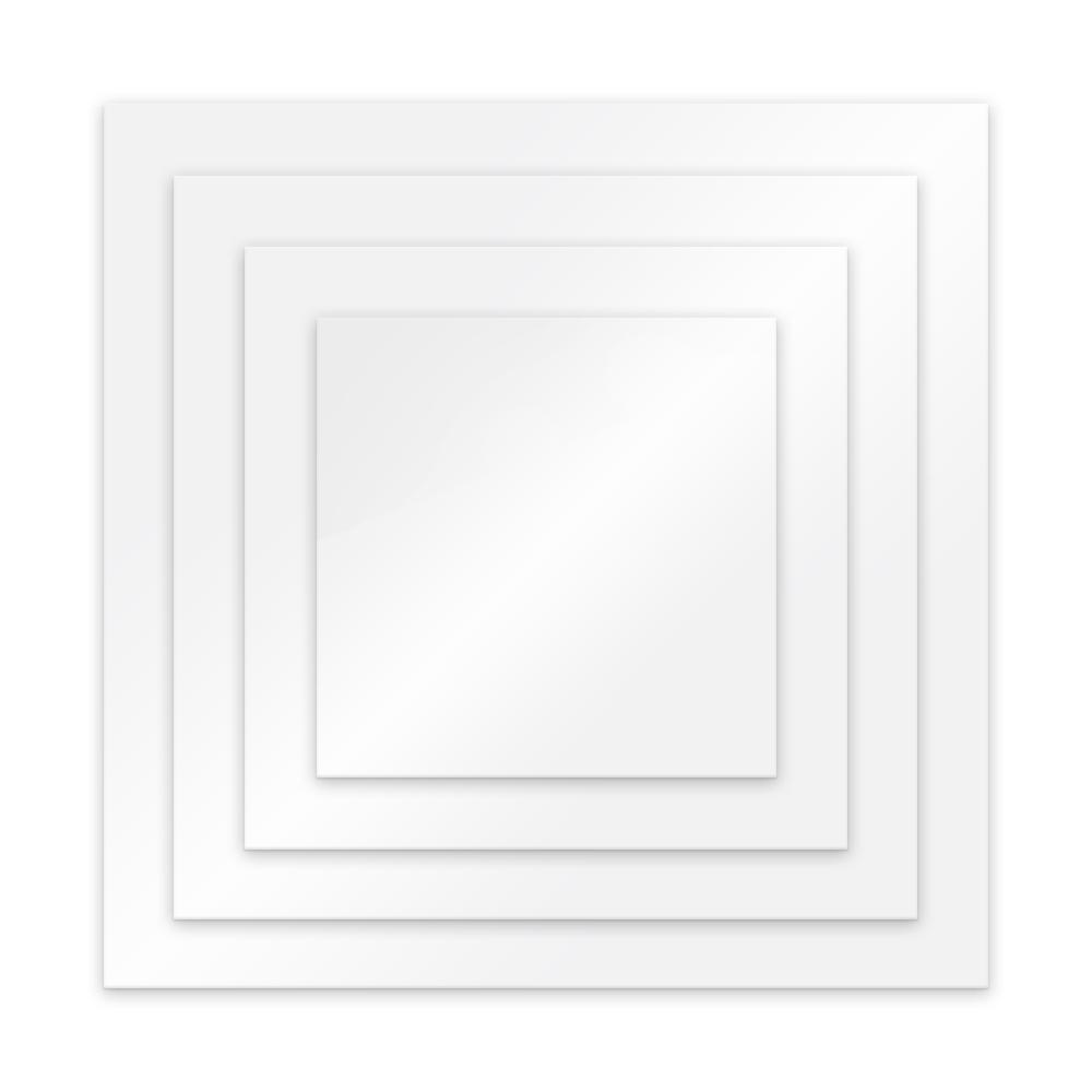 Plateau à ganache acrylique Carré - Choisir la taille