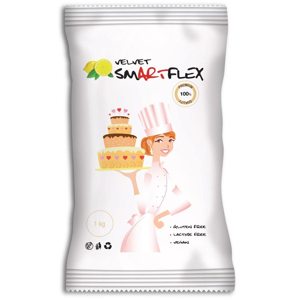 Pate à sucre SmartFlex Citron 1 Kg - Blanc