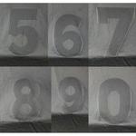Modèle pour Number Cakes - A4