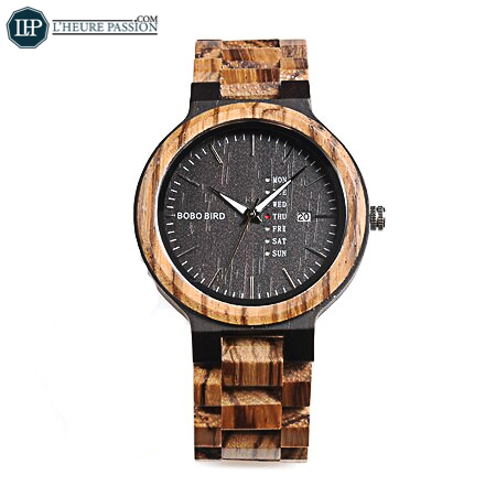 Men\'s wooden quartz watch