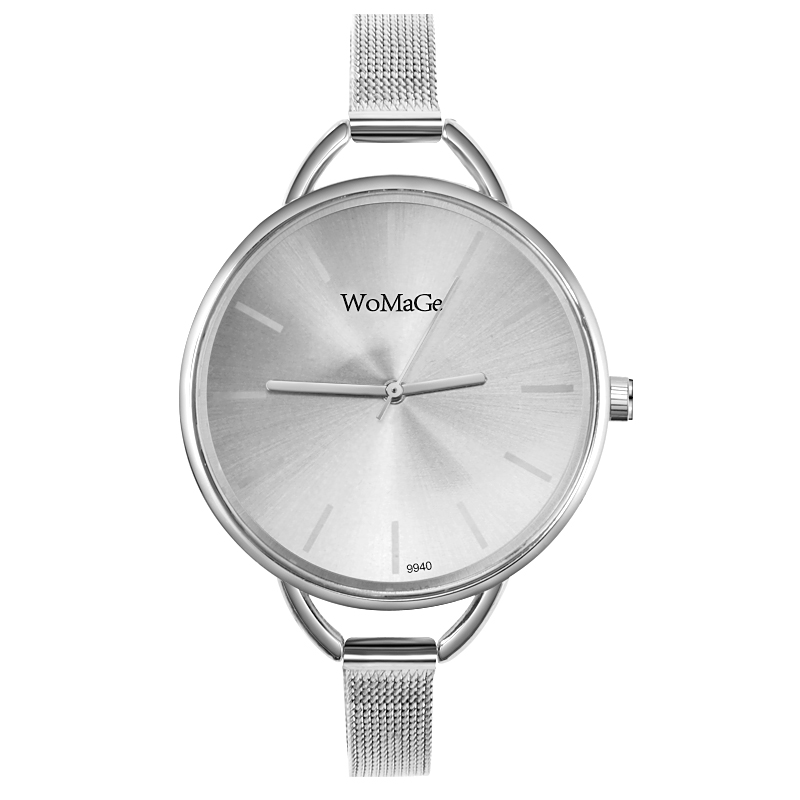 Women\'s gold and silver watch