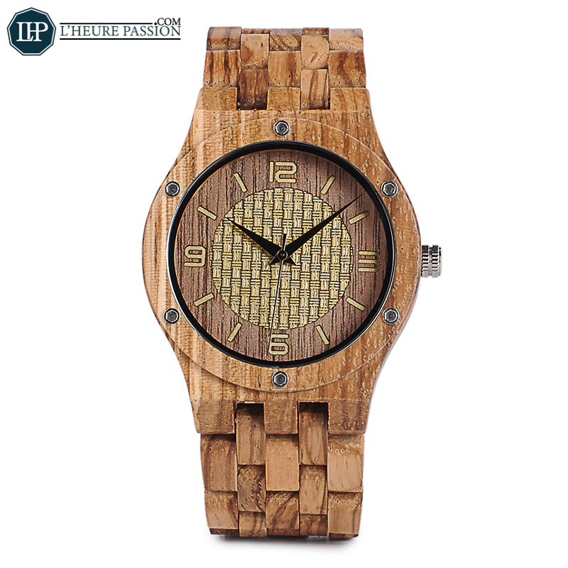 Wooden watch for casual woman