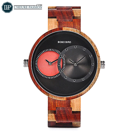 Large wooden watch for men