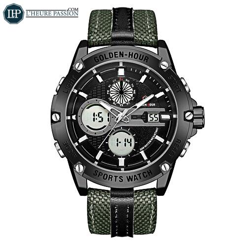 Waterproof LED display watch for men