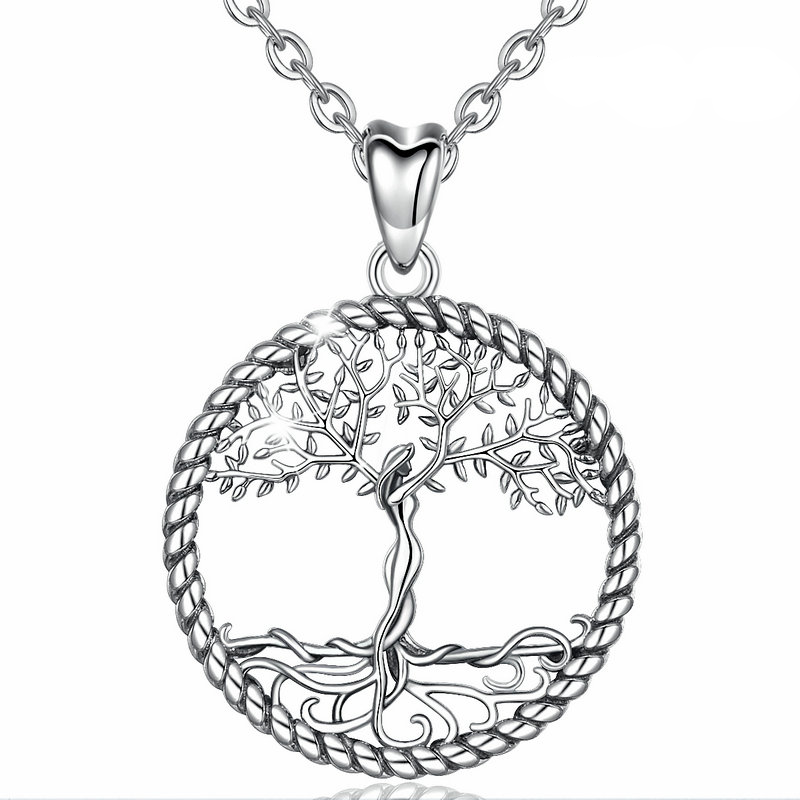 Necklace pendant tree of life silver