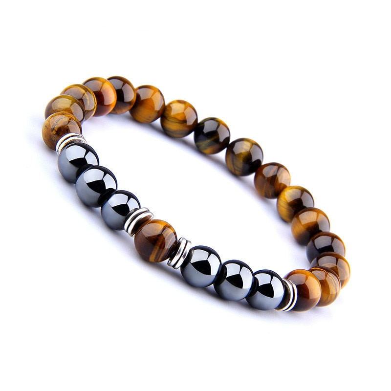 Tiger\'s eye natural pearl bracelet