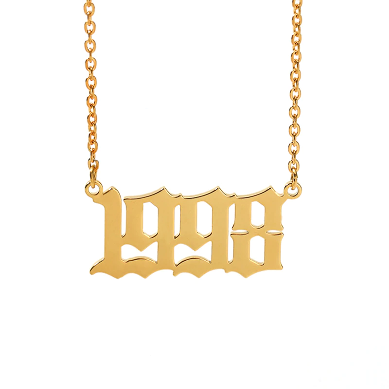 Necklace with year of birth