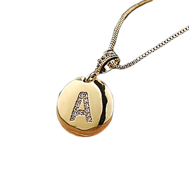 Necklace with initial pendant