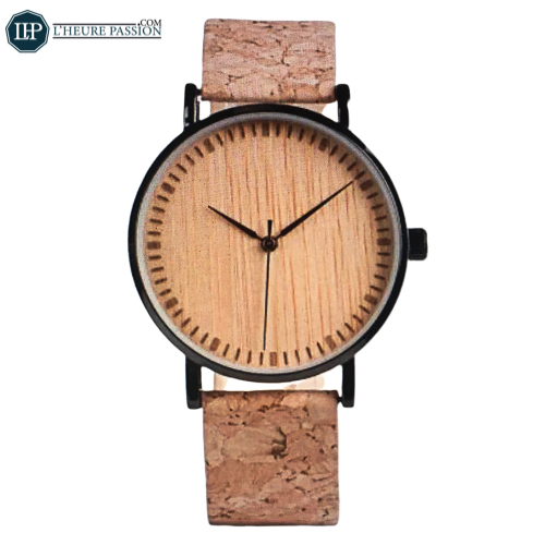Wooden watches with dial Strap De Liège