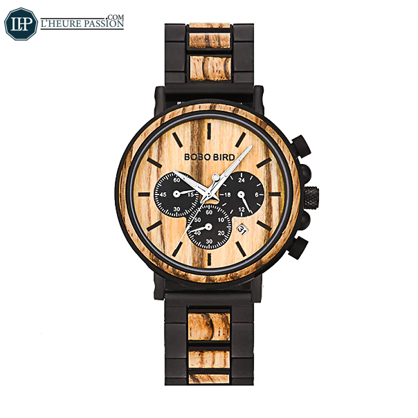 Luxury men\'s wooden watch