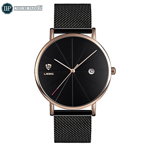 Minimalist Men\'s Ultra Thin Watch