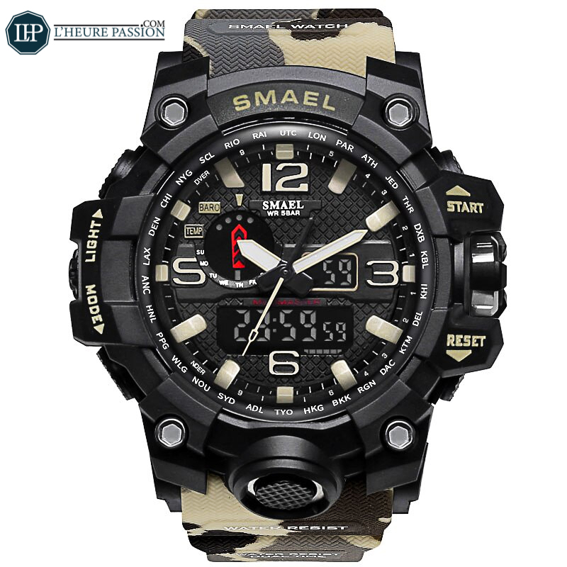 Military camouflage watch