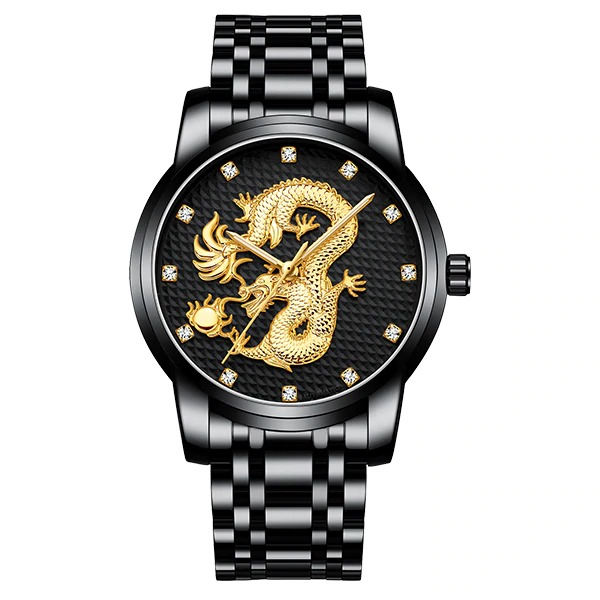 Men\'s watch with dragon