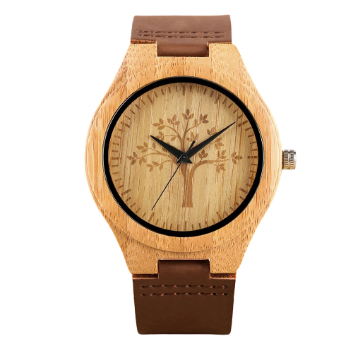 Ultra-light Quartz wood watch in maple tree life model