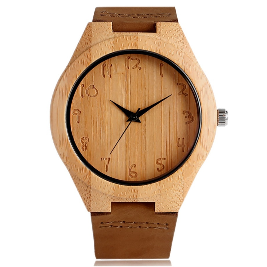 Wooden watch men women bamboo modern novel sport fashion