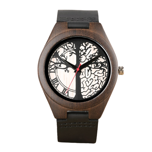 Natural bamboo design watch, wooden watch man woman