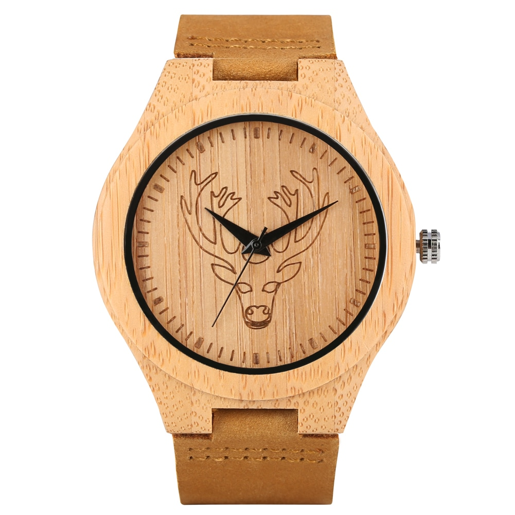 The ultra-light handmade wooden watch in bamboo: an accessory to enhance your wrist.