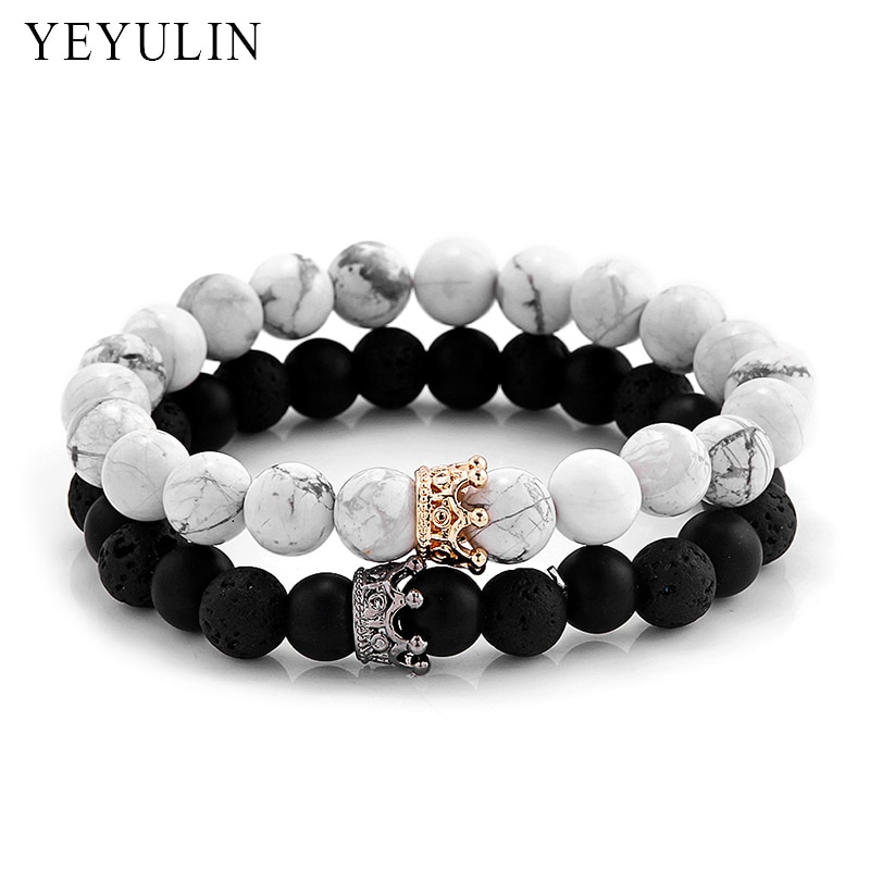 Fashionable Black White Stone Beads