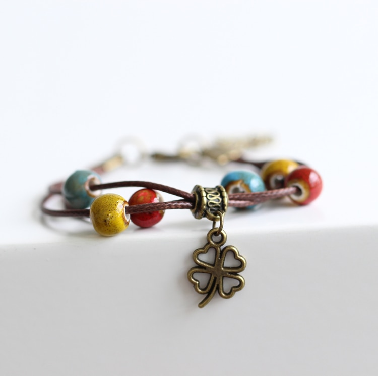 Bracelet clover 4 leaves