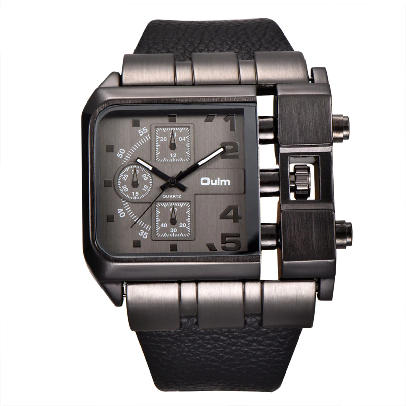 Men\'s watch with square dial