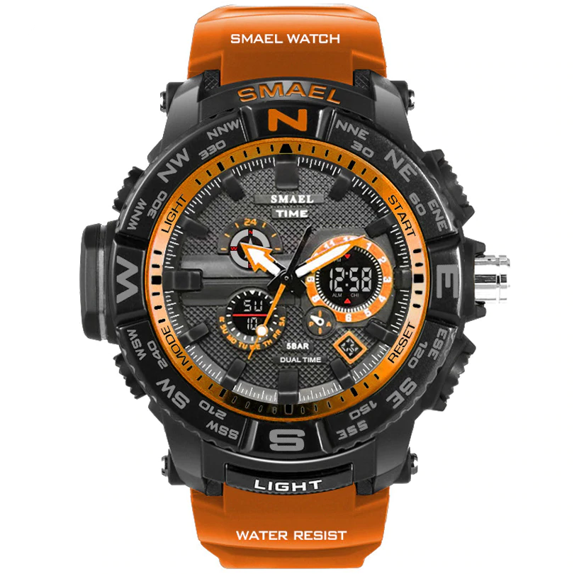 Analog and digital men\'s watch