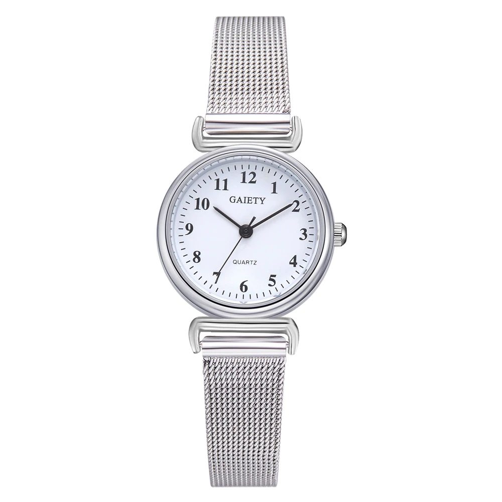 Women\'s watches blue stainless steel mesh