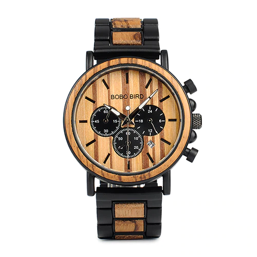 Retro wooden watch for men