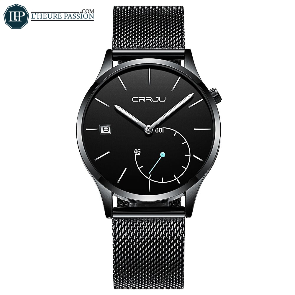 Quartz casual watch with thin steel mesh