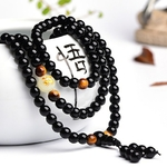 BOEYCJR-Dragon-Noir-Bouddha-Mala-Perles-Bracelets-et-Bracelets-Bijoux-Faits-Main-Ethnique-Lueur-dans-le