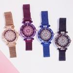 Femmes-aimant-boucle-chanceux-fleur-montre-de-luxe-dames-strass-Quartz-montre-Bracelet-ensemble-Relogio-Feminino