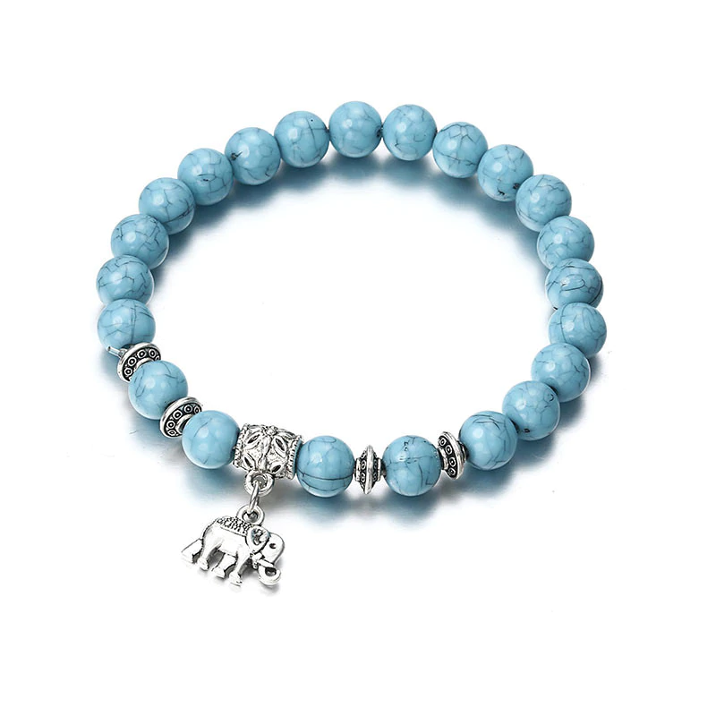 Klassisches blaues Acryl-Armband