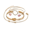 4-pi-ces-ensemble-classique-fl-che-noeud-rond-cristal-gemme-multicouche-r-glable-ouvert-Bracelet