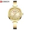 CURREN-mode-or-femmes-montres-9012-en-acier-inoxydable-Ultra-mince-Montre-Quartz-Femme-horloge-romantique