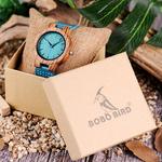 BOBO-OISEAU-C28-d-contract-Bambou-montre-en-bois-Pour-Hommes-Et-Femmes-Turquoise-Bleu-Quartz