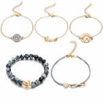DIEZI-Boh-me-Tortue-bracelets-porte-bonheur-Bracelets-Pour-Femmes-Mode-Or-Couleur-bracelets-brides-Ensembles
