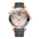 Hommes-automatique-auto-vent-m-canique-toile-caoutchouc-bracelet-James-Bond-007-Style-Orange-bleu-rouge