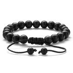 HIYONG-8mm-oeil-de-tigre-pierre-perles-Bracelet-tress-corde-r-glable-noir-mat-charme-gu