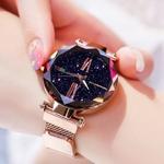Montres-de-luxe-pour-femmes-montre-en-or-Rose-pour-femmes-montre-bracelet-magn-tique-ciel