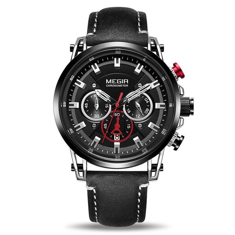 Top-of-the-range leren horloge