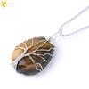 CSJA-couleur-or-arbre-de-vie-pendentif-pierre-naturelle-Gem-fil-enroul-collier-de-goutte-d