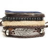 1-set-4-pcs-en-cuir-bracelet-Hommes-de-multi-couche-perle-bracelet-de-femmes-r